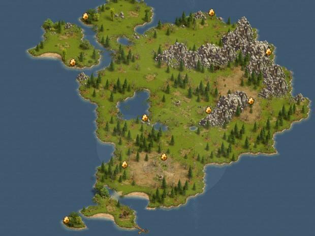 Settlers Online Pisanki mapa
