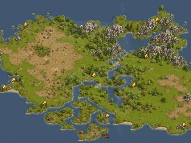 Settlers Online Mapa Pisanek