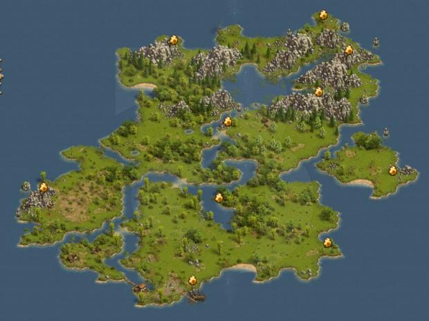 Mapa pisanek Settlers Online