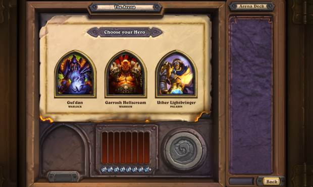 Hearthstone Arena Bohaterowie